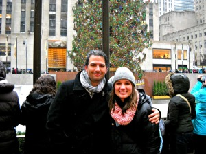 My uncle and me at the Rockefeller Center.