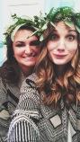 flower crowns & bridesmaid selfies.